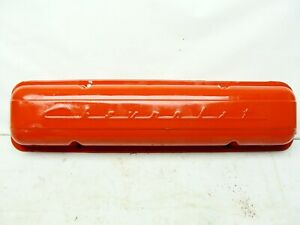 Vintage 1960 S Staggered Bolt Chevrolet Small Block Cover Script Valve Cover