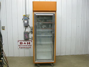 Hussmann One 1 Door Freezer Glass Merchandiser Frozen Food Display Case Hgl 1 ts