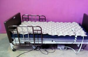 Invacare Electric Adjustable Hospital Bed Side Rails Solace Mattress