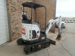 2015 Bobcat E20 Mini Excavator Orops Long Arm Aux Hydraulics 687 Hrs 13 9hp