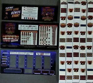 Ac Coin Slot Machine Robin Hood Glass Kit Belly Amp Reel With Strips