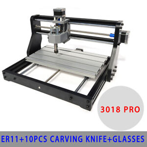 Cnc3018 Diy Router Kit 2in 1 2500mw Laser Engraving Machine 3 Axis Er11 Collet