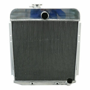 2 Row Aluminum Radiator For 1949 1950 Plymouth Deluxe Suburban 3 6l L6 Engine