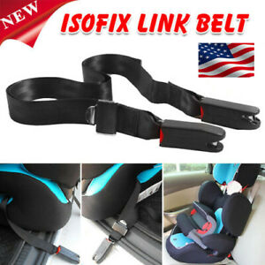 Universal Car Suv Child Safety Seat Toptether Bottom Isofix Latch Belt Connector