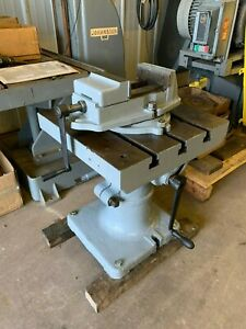 20 Rotary Tilt And Turn Table With Palmgren Vise Lot 1057