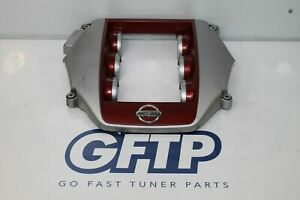 09 19 Nissan Gtr R35 Factory Oem Engine Plastic Cover 14041jf00a Red Silver