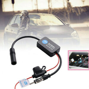 Car Stereo Antenna Aerial Radio Am Fm Signal Booster Amplifier Ant 208 Hot