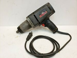 Sears Craftsman 1 2 Drive Electric Impact Gun 4 5 Amp Reversible Free Shipping