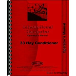 Ih International 33 Hay Conditioner Owners Operators Manual
