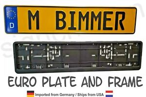 Euro Style Tag Bmw European License Plate Any Text Custom Embossed German