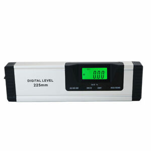 225mm Digital Protractor Electronic Level With Laser Aluminum Alloy Angle Finder