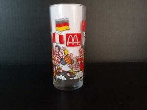 McDonalds Coca Cola 1982 World Cup Soccer Glass Rare Collectible