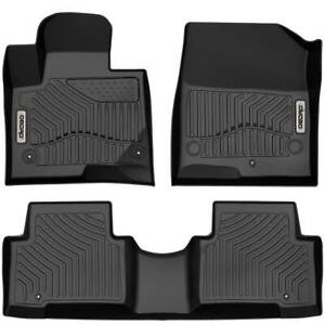 Oedro Floor Mats Liners Unique Tpe For Hyundai Santa Fe 2013 2018 All weather
