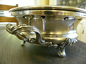 19th Century Christofle French Silver Plate Food Warming Chafing Dish