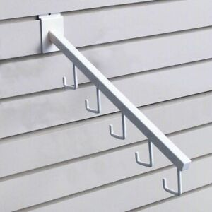 Slatwall Waterfall Faceout Arm White 5 Hooks