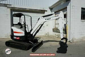 2015 Bobcat E26 Mini Excavator Orops Long Arm 2 Spd Aux Hydraulics 24 8 Hp