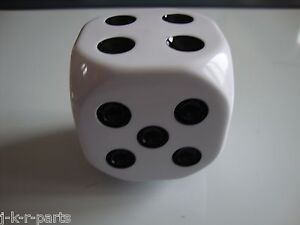 White Dice Shift Knob Car Truck Hot Rod Rat Rod Custom Classic 70014