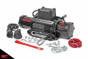 Rough Country 9500lb Pro Series Electric Winch Synthetic Rope Pro9500s