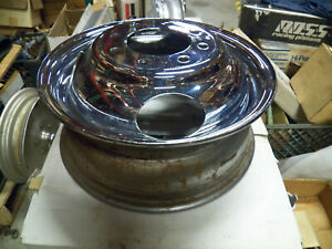 Used Chrome Dually Budd Front Wheel 16 x6 8 X 6 5 Ford Chevy Dodge No cores