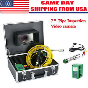 7 lcd 30m Sewer Waterproof Camera Pipe Pipeline Drain Inspection System