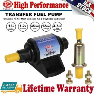 12s Universal Super 4 7 Psi 3 8inch Micro Electric Fuel Pump 35 Gph 12v Transfer