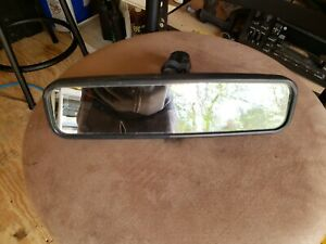 87 93 Ford Mustang Convertible Interior Lighted Rear View Mirror Assembly Oem