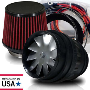 Electric Supercharger Kit Turbo Intake Filter For Honda Diy Universal Fit