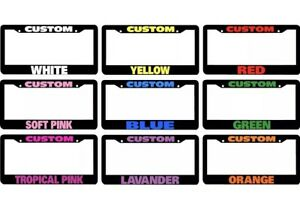 50 Custom Personalized License Plate Frame Color Choice Including Hardware