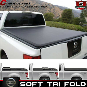 5ft 3 fold Best Soft Tonneau Cover Truck Bed For Nissan Frontier 2015 2018 2017
