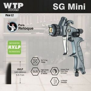 Wtp Sgmini Hvlp Professional Spray Paint Gun 1 2 100ml Cup Mini Jet Color Clear