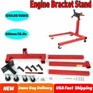 820mm Height Red Engine Stand 1250 Lbs Capacity 360 Degree Head Motor Stand