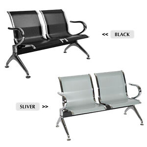 2 seat Waiting Room Office Chair Reception Airport Guest Sofa Seat Modern