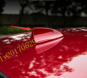Red Car Roof Shark Fin Antenna Cover Radio Trim Fit For Mazda 3 Axela 2017 2019