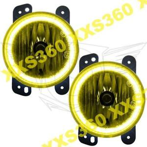Oracle Halo Foglights For Jeep Wrangler Jk 07 09 Yellow Led Angel Eyes