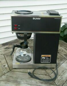 Bunn Vpr 12 Cup Commercial Pour Over Brewer Warmer Coffee Maker 2 Carafes