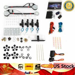 12v Electric 2 Power Motor Window Lifter 4 Door Lock Conversion Kit Central Door