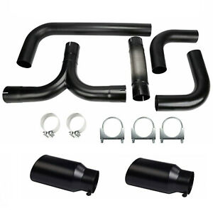 4 Turbo Dual Smoker Diesel Exhaust Stack T Pipe System Kit 2pcs 4 In 7 Out Tips