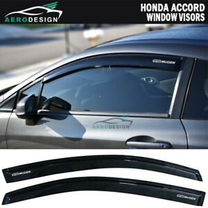 For 12 15 Honda Civic Coupe Smoke Window Visor Rain Vent Guard Acrylic Deflector