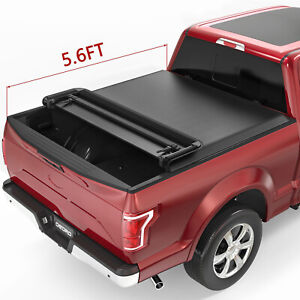 Oedro Fit For 2009 2019 Dodge Ram 1500 5 8ft Soft Quad fold Tonneau Cover