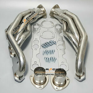 Stainless Steel Exhaust Headers For Chevy Gmc Truck 1500 2500 3500 V8 5 0l 5 7l