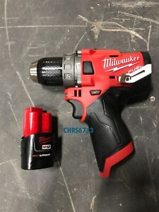 New Milwaukee 2504 20 M12 12v Fuel 1 2 Brushless Hammer Drill 2 0 Battery