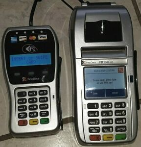 First Data Fd130 Duo Credit Card Terminal With Fd 35 Reader Combo And Power Cord