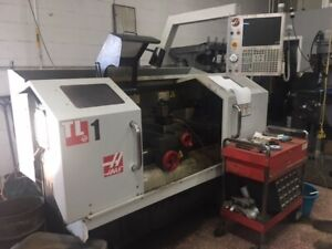Used 2012 Haas Tl 1 Cnc manual Teach Toolroom Lathe Turning Center Steady Rest