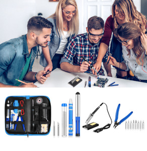 Profesional Soldering Iron Kit Adjustable Temperature Welding Tool Electrical Us