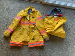 Morning Pride Firefighter Insulated Gear Jacket Pants Suspenders Xl Full Set