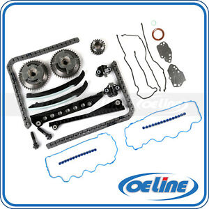 Timing Chain Kit For 04 08 Ford Lincoln 5 4l 3v Triton Cam Phasers Cover Gasket
