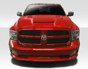 Duraflex Rk s Ram Air Hood 1 Piece For 2009 2018 Dodge Ram 1500 112798