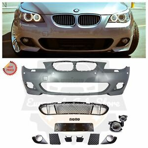 E60 Mtech Style Front Bumper W Clear Fog Lights For Bmw 2008 09 Sedan With Pdc