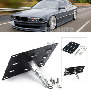 For 95 01 Bmw E38 7 series Tow Hook Eye License Plate Frame Bracket Mount Holder