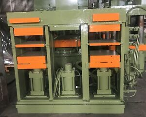 75 Ton 3 Station Hydraulic Post Molding Electric Platen Presses